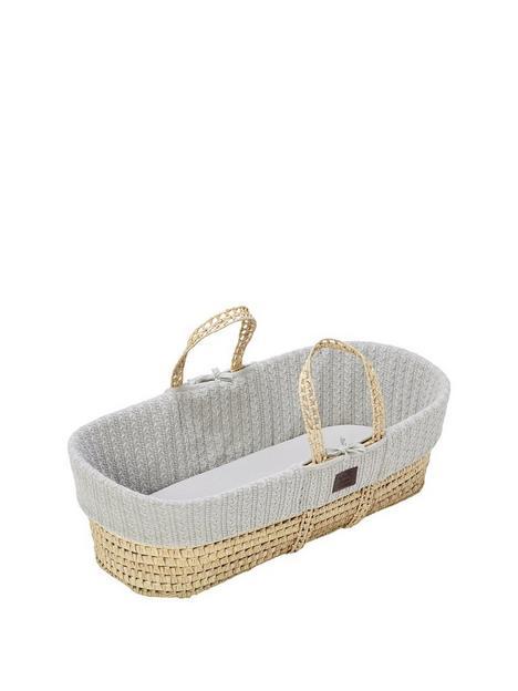 the-little-green-sheep-organic-knit-moses-basket-set-grey