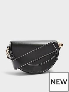 topshop-topshop-wide-strap-topstitch-saddle-bag-black
