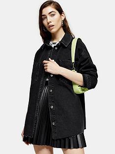 topshop-oversized-denim-shirt-black