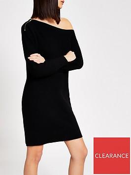 river-island-river-island-off-the-shoulder-knitted-dress-black