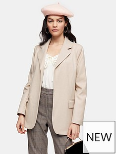 topshop-double-faced-blazer-beige