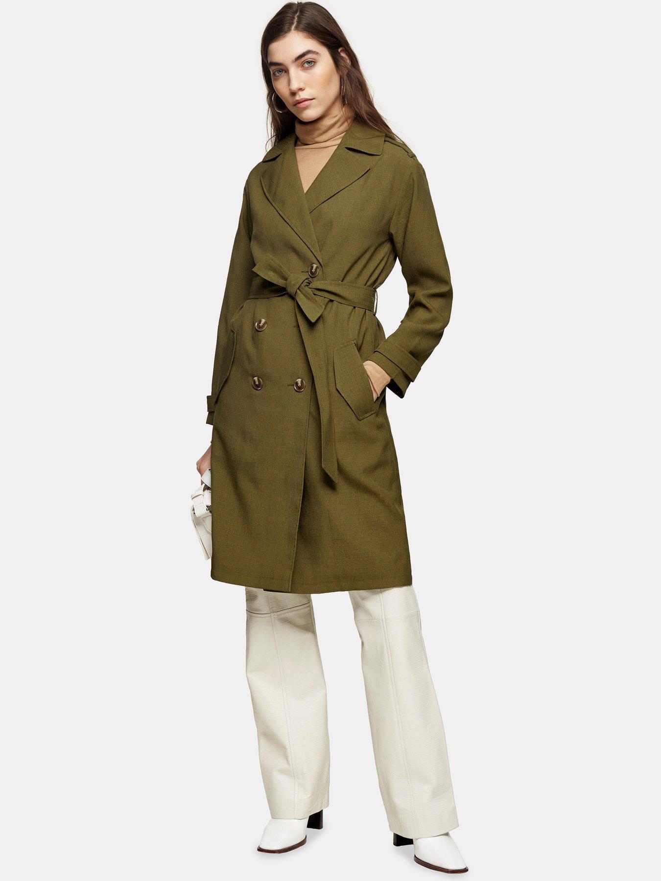 RRP£149 WRAP LONDON Mac Trench Coat Jacket Ecru Cream Cotton UK 8 10 12 14 16 22
