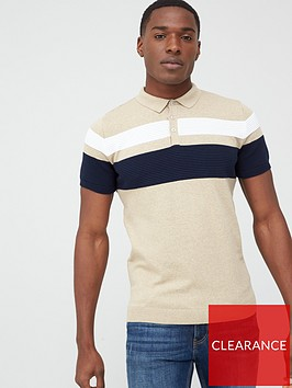 river-island-blocked-slim-fit-polo-shirt-stonenbsp
