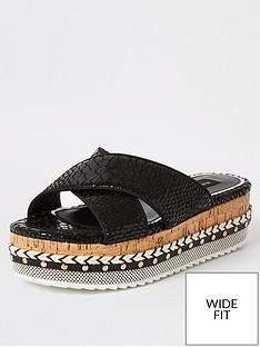 river-island-wide-fit-cross-strap-flatform-sandalsnbsp--black