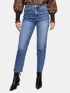 topshop-straight-jeans-blue