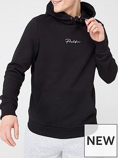 river-island-prolific-black-slim-fit-hoodie