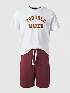 v-by-very-fathers-daynbsptrouble-maker-mini-me-pjs-whiteburgundy