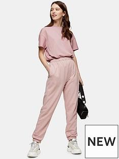 topshop-bronte-slim-joggers-pink