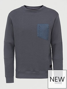 river-island-nylon-blocked-crew-neck-sweat