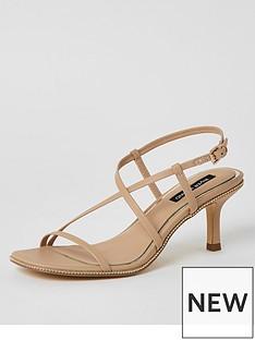 river-island-river-island-strappy-beaded-edge-low-heel-sandal-beige