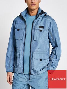 river-island-4-pocket-hooded-jacket-blue