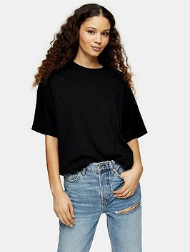 topshop-two-pack-panel-boxy-t-shirts-blackgrey