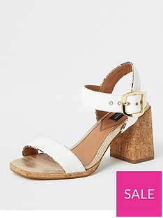 river-island-wide-fit-mid-heel-two-part-sandal-beige