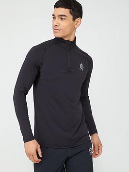 gym-king-sport-race-14-zip-funnel-neck-top-black