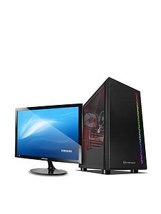 pc-specialist-fusion-s-pcs-d1615229-amd-athlon-3000g-8gb-ram-1tb-hard-drive-amp-128gb-ssd-gaming-desktop-with-24-inch-samsung-monitor-black