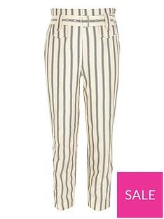 river-island-girls-stripe-belted-trouser-cream