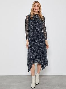 mint-velvet-spot-jersey-trapeze-midi-dress-grey