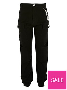 river-island-girls-chain-cargo-trousers-black