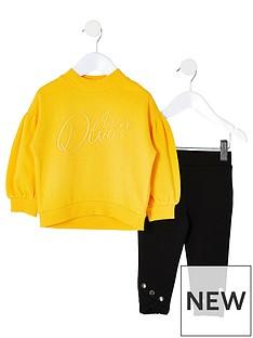 river-island-mini-mini-girls-diva-sweat-and-legging-set--yellow