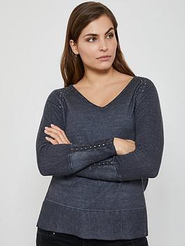 mint-velvet-overdye-woven-back-jumper-grey