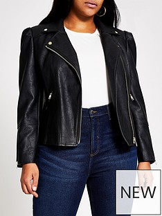 ri-plus-ri-plus-pu-puff-sleeve-biker-jacket-black