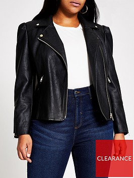 ri-plus-ri-plus-pu-puff-sleeve-biker-jacket-black