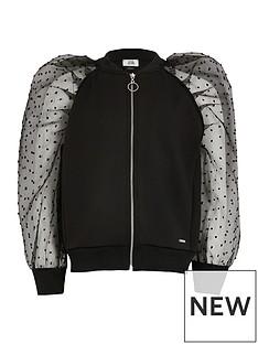 river-island-girls-organza-sleeve-jacket-black
