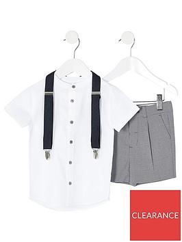 river-island-mini-mini-boys-grandad-shirt-ampnbspshort-set-grey