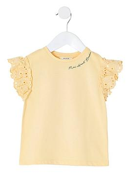 river-island-mini-mini-girls-broderie-sleeve-tshirt-yellow