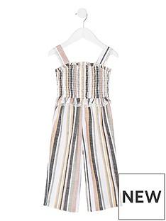 river-island-mini-mini-girls-stripe-shirred-jumpsuit--white