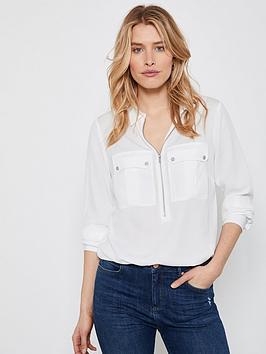 mint-velvet-utility-zip-front-shirt-ivory