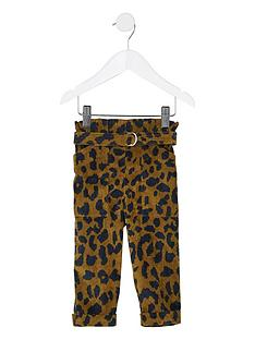 river-island-mini-mini-girls-leopard-cord-paperbag-trousers-brown