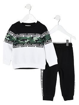 river-island-mini-mini-boys-camo-sweat-and-jog-pant-outfit-blackwhite