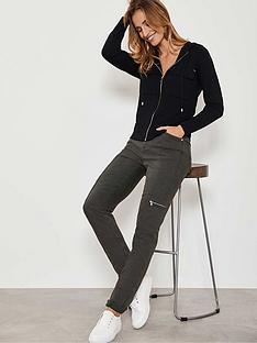 mint-velvet-houston-khaki-slim-cargo-jeans-green