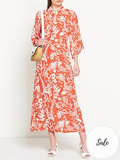 fabienne-chapot-kim-lou-coral-print-dress-red