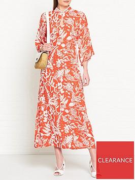 fabienne-chapot-kim-lou-coral-print-dress-red