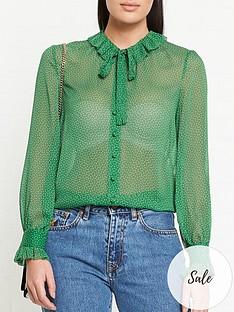 lk-bennett-eliza-polka-dot-blouse-green