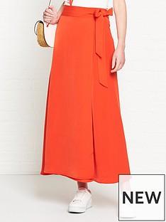 fabienne-chapot-bobo-wrap-midi-skirt-red
