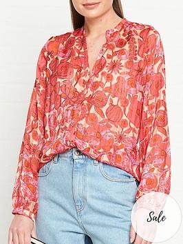 fabienne-chapot-frida-floral-print-blouse-pink