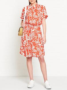 fabienne-chapot-coral-print-boyfriend-shirt-dress-red