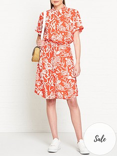 fabienne-chapot-coral-print-boyfriend-shirt-dress-red