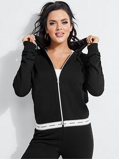 guess-logo-tape-zip-through-hoodie-black