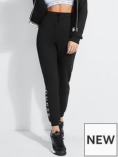 guess-logo-sweatpants-black
