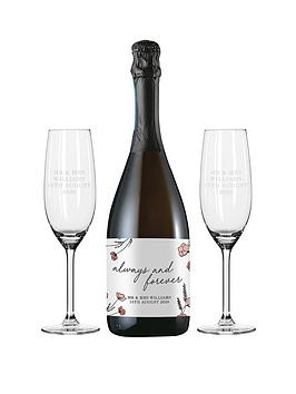 signature-gifts-personalised-always-amp-forever-prosecco-set-in-silk-lined-box