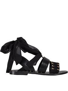 sofie-schnoor-stud-chiffon-sandals-black