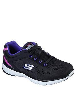 skechers-flex-appeal-30-steady-move-trainer-black-purple
