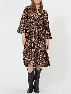 sofie-schnoor-leopard-midi-dress-multi