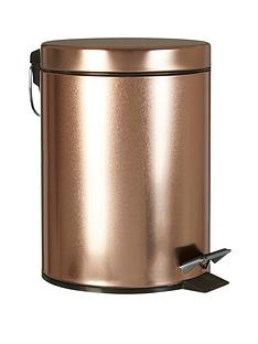 premier-housewares-rose-gold-pedal-bin
