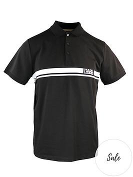 karl-lagerfeld-logo-stripe-panel-polo-shirt-black