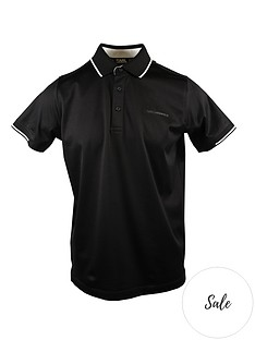 karl-lagerfeld-tipped-collar-polo-shirt-black